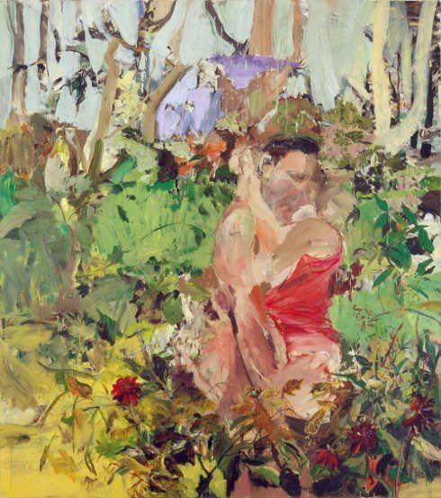 Cecily Brown, Couple, 2004, Öl/Leinen, 228,6 × 203,2 cm (Privatsammlung © Cecily Brown, Foto: Robert McKeever)