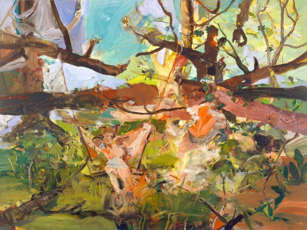 Cecily Brown, Girl on a Swing, 2004, Öl/Leinen, 182 × 243 cm (National Gallery of Art, Washington, Gift of the Collectors Committee, 2015 © Cecily Brown, Foto: Robert McKeever)