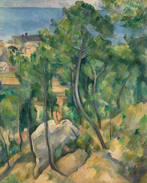 Paul Cézanne, Blick auf das Meer bei L'Estaque, 1883–1885 (Staatliche Kunsthalle Karlsruhe), Foto: bpk