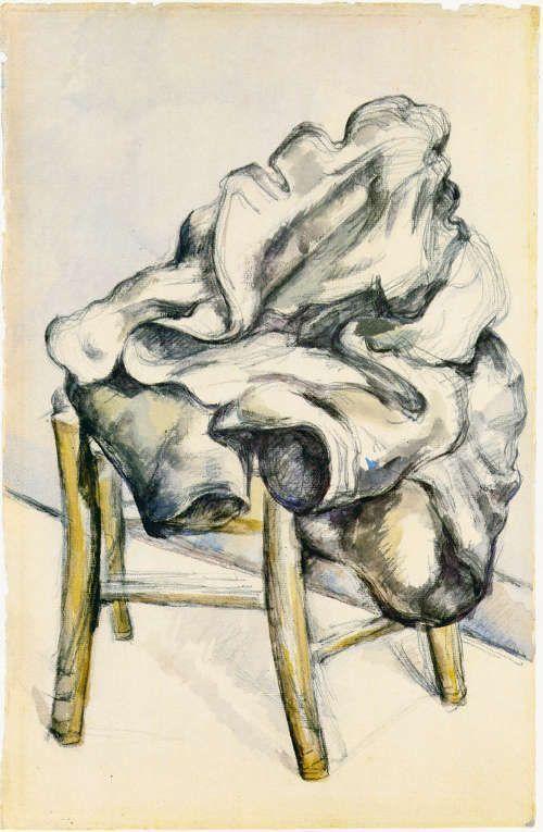 Paul Cézanne, Jacke auf einem Hocker (Privatsammlung)