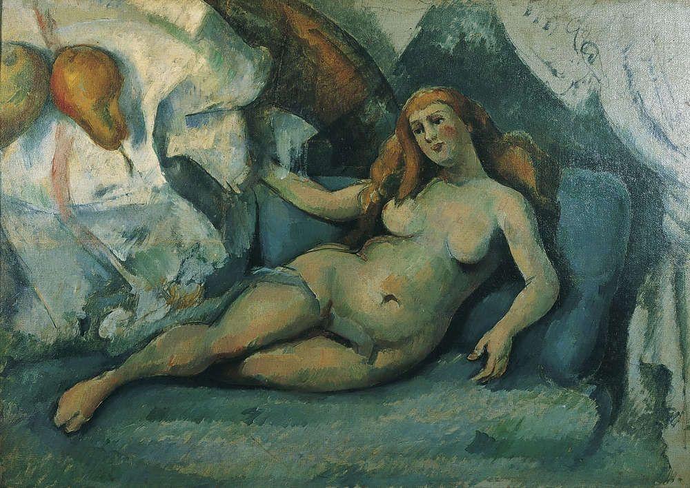 Paul Cézanne, Liegender weiblicher Akt und Birnen (Leda II), 1885–1887 (Von-der-Heydt-Museum, Wuppertal, G1143), Foto: Medienzentrum, Antje Zeis-Loi.