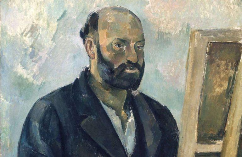 Paul Cézanne, Selbstbildnis mit Palette, Detail, um 1890 (Stiftung Sammlung E.G. Bührle, Zürich), Foto: SIK Zürich (J.-P. Kuhn)