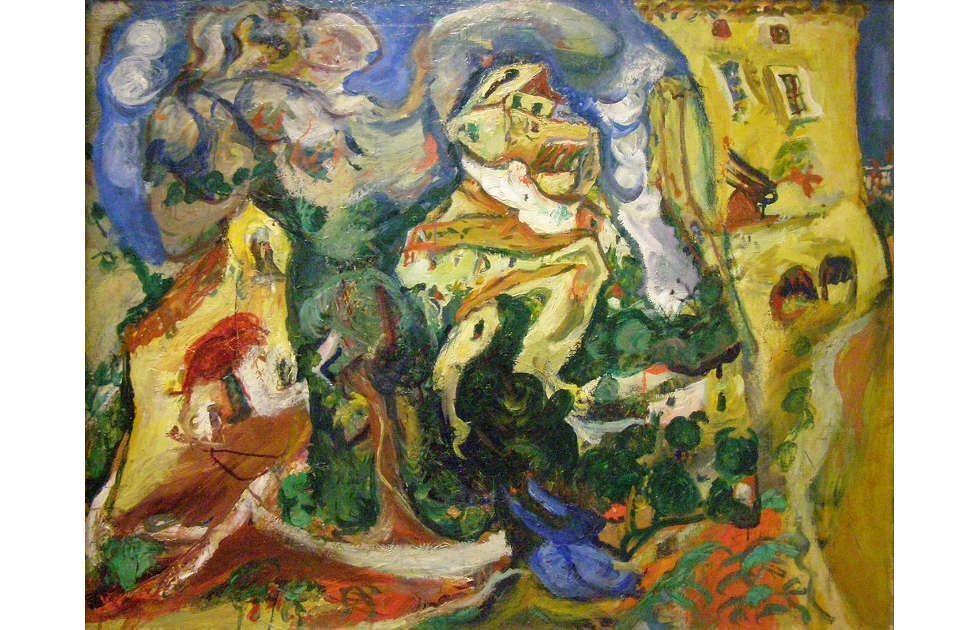 Chaïm Soutine, Das Dorf, um 1923, Öl/Lw, 73,5 x 92 cm (Musée de l'Orangerie, Paris © RMN-Grand Palais (Musée de l'Orangerie) / Hervé Lewandowski)