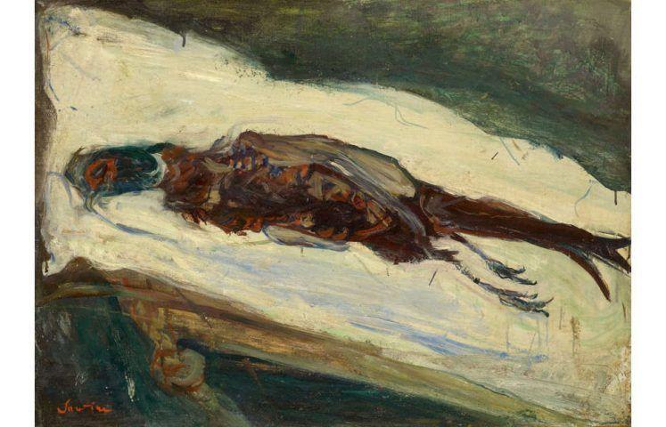 Chaim Soutine, Le faisan mort, um 1926/27 (Kunstmuseum Basel, Sammlung Im Obersteg)