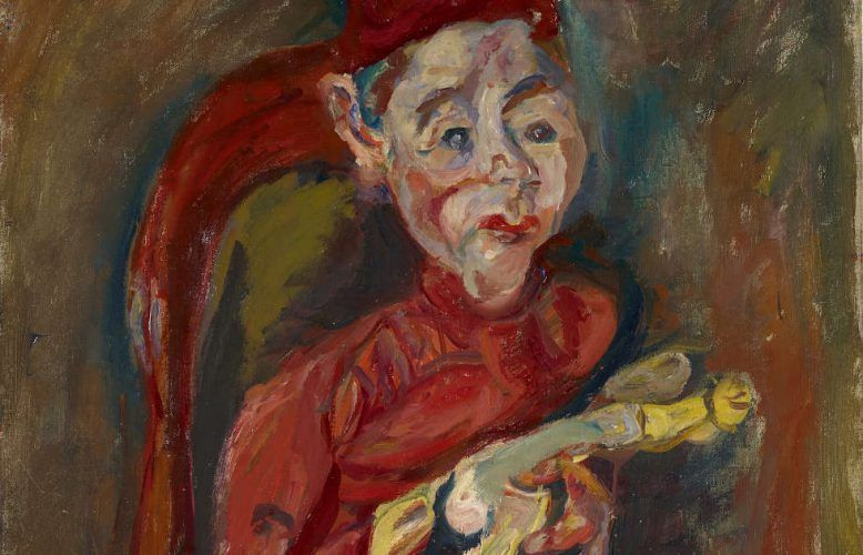 Chaim Soutine, Kind mit Spielzeug [L'enfant au jouet], Detail, um 1919, Öl auf Leinwand, 81 x 64.5 cm (Stiftung Im Obersteg, Depositum im Kunstmuseum Basel 2004, Inv. Im 1521)
