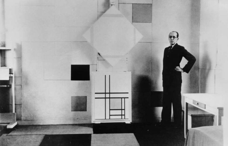 Charles Karsten, Piet Mondrian in seinem Atelier, Paris Oktober 1933 (Collection RKD – Netherlands Institute for Art History)