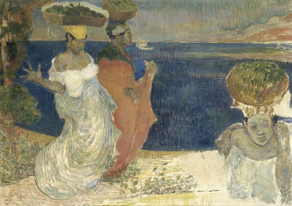 Charles Laval, Frauen am Strand, Skizze, 1887–88, Öl/Lw, 65 × 91.5 cm (Musée d'Orsay, Paris, on long-term loan to the Musée Toulouse-Lautrec, Albi)