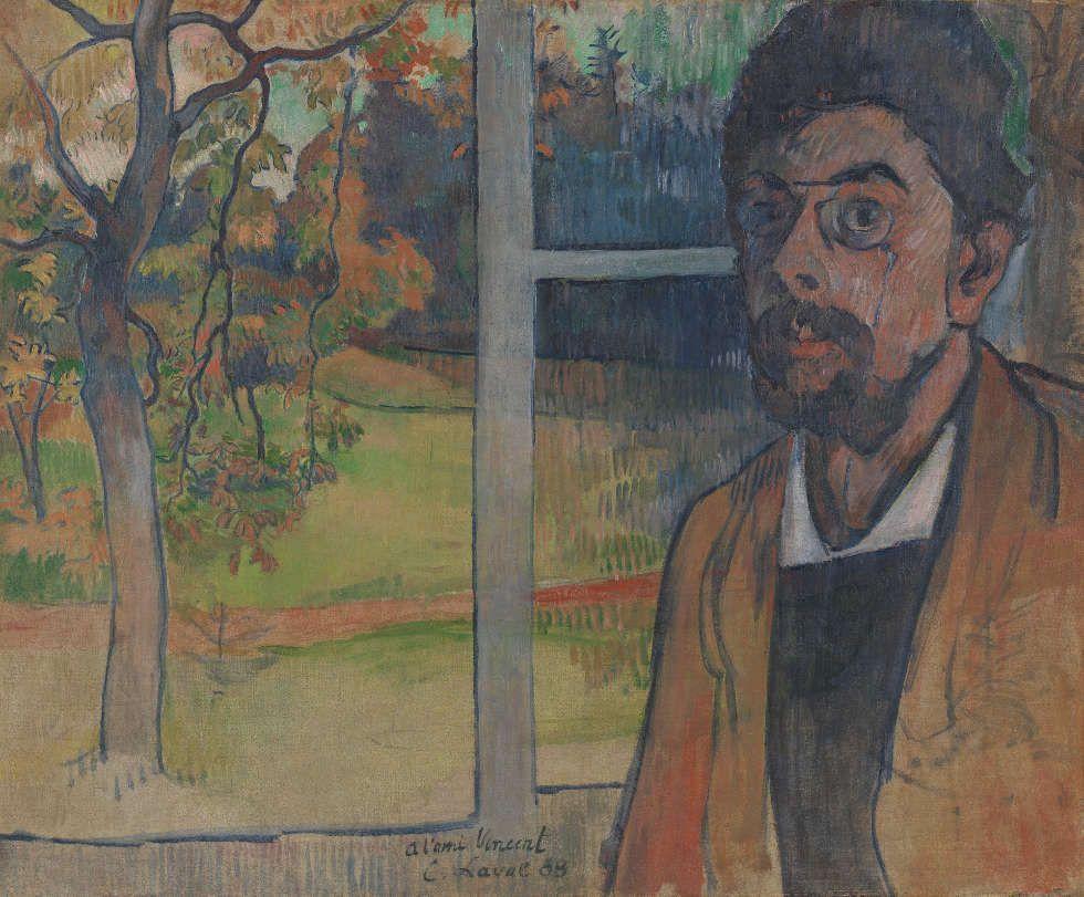 Charles Laval, Selbstporträt, Pont-Aven 1888, Öl/Lw, 50.7 cm x 60.4 cm (Van Gogh Museum, Amsterdam (Vincent van Gogh Foundation)