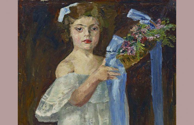 Charlotte Berend-Corinth, Henny (Henriette Seckbach), Detail, 1905, Leinwand, 97 cm x 59 cm (Städtische Galerie im Lenbachhaus und Kunstbau München, © Rechtsnachfolge der Künstlerin)