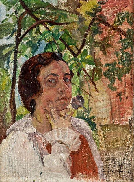 Charlotte Berend-Corinth, Selbstporträt, 1921 (© Friedhelm Oriwol-Walchenseemuseum Urfeld)