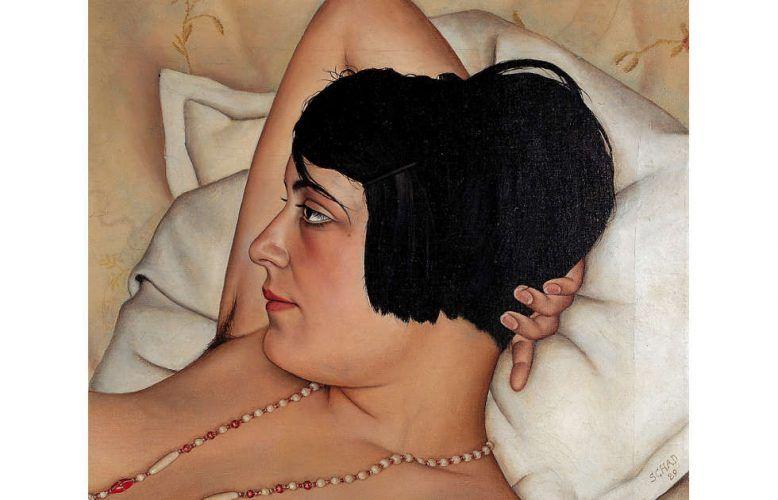 Christian Schad, Halbakt, Detail, 1924 (Von der Heydt-Museum, Wuppertal, © Christian Schad Stiftung Aschaffenburg / VG Bild-Kunst, Bonn 2018)