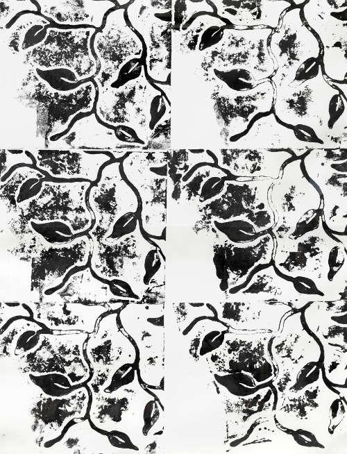 Chirstopher Wool, Ohne Titel, 1991, Alkyd auf Papier, 132 x 101 cm (Privatsammlung Foto: © Markus Wörgötter)