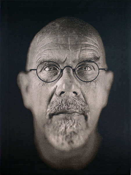 Chuck Close, Self-Portrait, 2009 (Albertina, Wien)