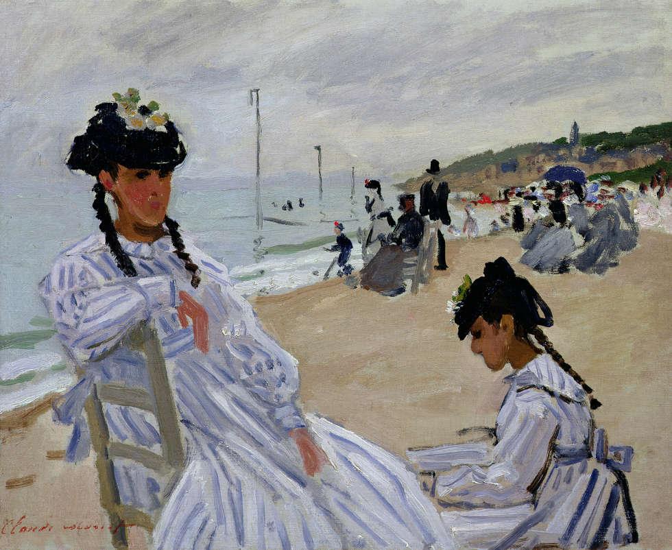 Claude Monet, Am Strand von Trouville, 1870/71, Öl auf Leinwand, 38 x 46 cm (Musée Marmottan Monet, Paris)