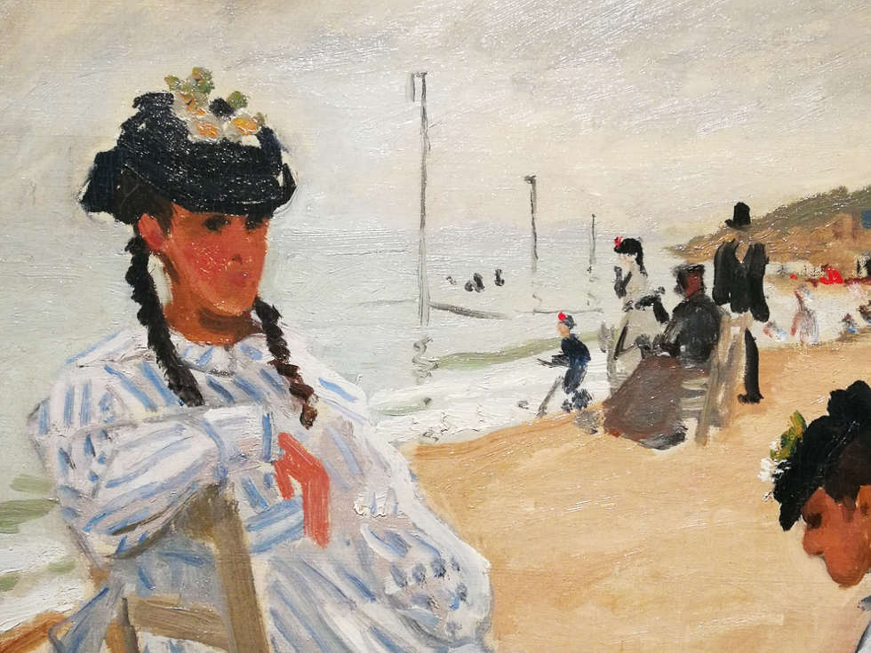 Claude Monet, Am Strand von Trouville, Detail, 1870 (© Musée Marmottan Monet, Paris - The Bridgeman Art Library) Foto: Alexandra Matzner, ARTinWORDS