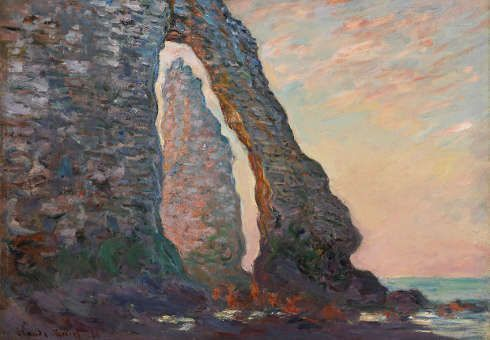 Claude Monet, Blick auf die Felsnadel durch die Porte d'Aval, 1886, Öl/Lw (National Gallery of Canada, Ottawa, Schenkung Marjorie und Gerald Bronfman, Montréal © National Gallery of Canada, Ottawa)