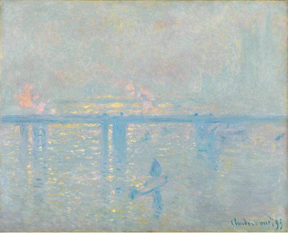 Claude Monet, Charing Cross Bridge, 1899, Öl/Lw, 64,8 x 80,6 cm (Sammlung Carmen Thyssen-Bornemisza, Leihgabe im Museo Nactional Thyssen-Bornemisza)