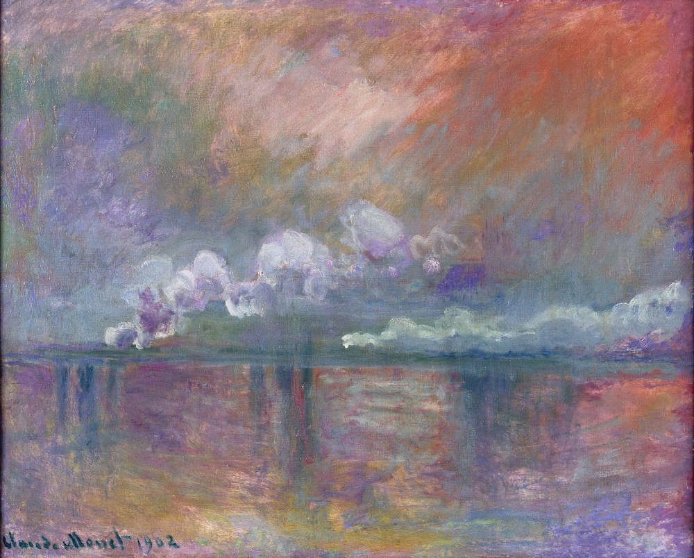 Claude Monet, Charing Cross Bridge, Dampfschwaden im Nebel, Impression, 1902 (© Musée Marmottan Monet, Paris - The Bridgeman Art Library)
