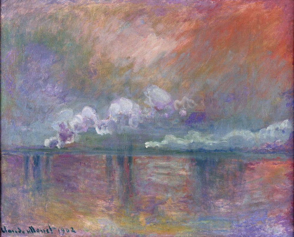 Claude Monet, Charing Cross Bridge, Dampfschwaden im Nebel, Impression, 1902 (© Musée Marmottan Monet, Paris - The Bridgeman Art Library)