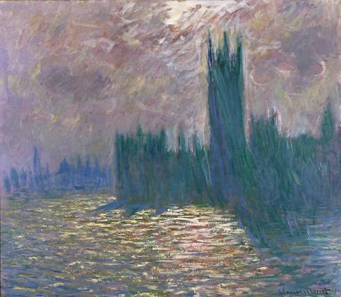 Claude Monet, Das Parlament, Spiegelungen auf der Themse, 1905 (© Musée Marmottan Monet, Paris - The Bridgeman Art Library)