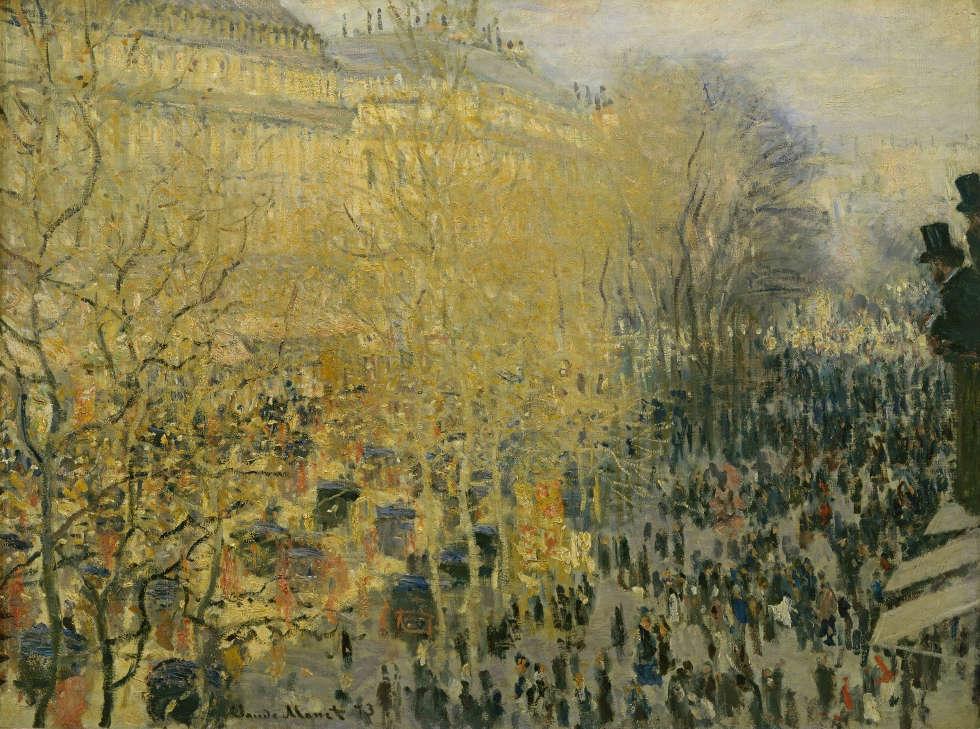 Claude Monet, Boulevard des Capucines, 1873, Öl auf Leinwand 60 × 80 cm (Pushkin Museum, Moskau © 2017. Photo Scala, Florence)