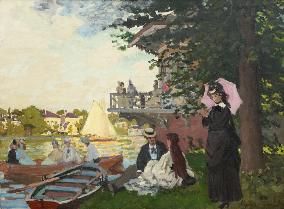 Claude Monet, Der Landesteg, 1871, Öl/Lw (Acquavella Galleries © Acquavella Galleries)