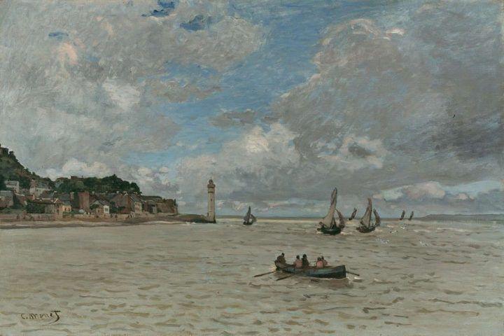 Claude Monet, Der Leuchtturm von Honfleur, 1864, Öl auf Leinwand, 54 x 81 cm (Kunsthaus Zürich, Schenkung der Erben von Dr. Adolf Jöhr)