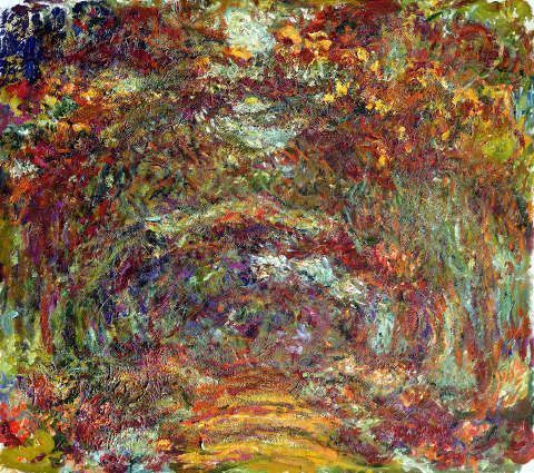 Claude Monet, Der Rosenweg in Giverny, 1920–1922 (© Musée Marmottan Monet, Paris - The Bridgeman Art Library)