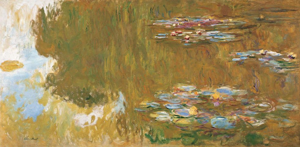 Claude Monet, Der Seerosenteich, 1917–1919 (© Albertina, Wien. Sammlung Batliner)