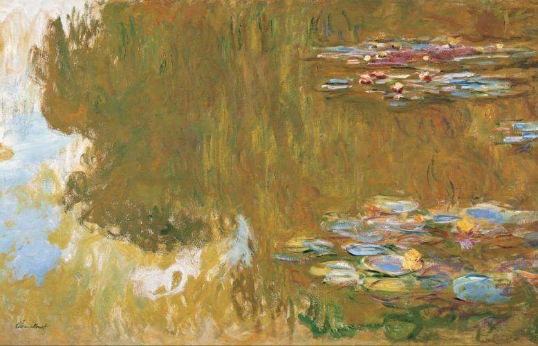 Claude Monet, Der Seerosenteich, Detail, 1917–1919 (© Albertina, Wien. Sammlung Batliner)