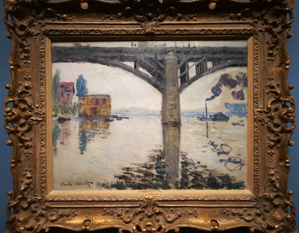 Claude Monet, Die Straßenbrücke von Argenteuil, 1874, Öl/Lw, 50 x 65 cm (Privatsammlung) Foto: Alexandra Matzner, ARTinWORDS