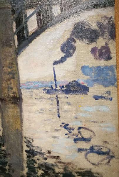 Claude Monet, Die Straßenbrücke von Argenteuil, Detail, 1874, Öl/Lw, 50 x 65 cm (Privatsammlung) Foto: Alexandra Matzner, ARTinWORDS