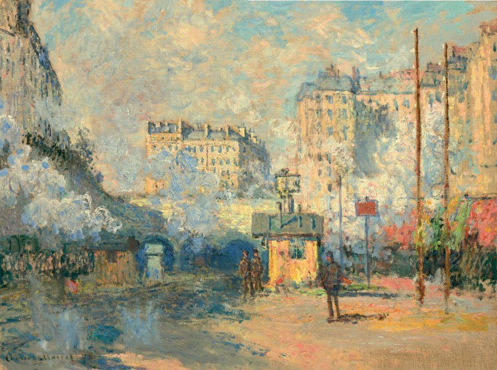 Claude Monet, Gare Sainte-Lazare, 1877 (Privatsammlung)