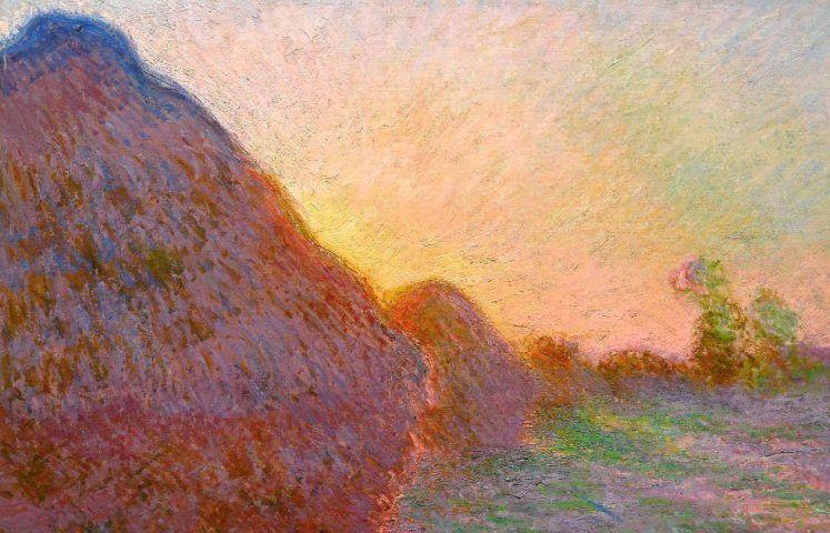 Claude Monet, Meule [Getreideschober], Detail, 1891, Öl auf Leinwand, 72.7 x 92.6 cm (Privatbesitz © Courtesy Sotheby's New York)