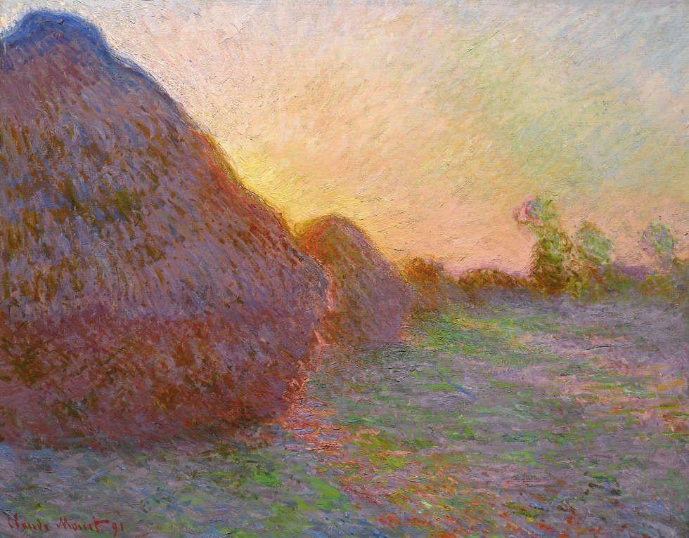 Claude Monet, Meule [Getreideschober], 1891, Öl auf Leinwand, 72.7 x 92.6 cm (Privatbesitz © Courtesy Sotheby's New York)