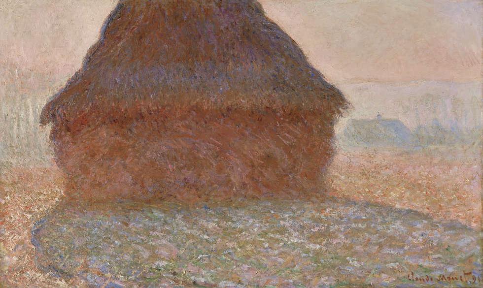 Claude Monet, Getreideschober in der Sonne, 1891, Öl/Ln (Kunsthaus Zürich, erworben aus dem Legat Otto Meister mit einem Beitrag der Schweizerischen Kreditanstalt © Kunsthaus Zürich)
