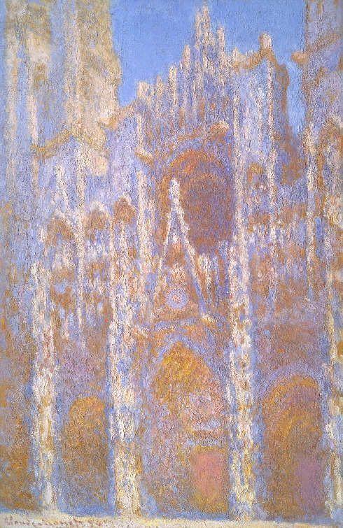 Claude Monet, Die Kathedrale von Rouen, das Portal und der Albanturm in der Dämmerung, 1893, Öl/Lw (Juliana Cheney Edwards Collection, Photograph © Museum of Fine Arts, Boston)