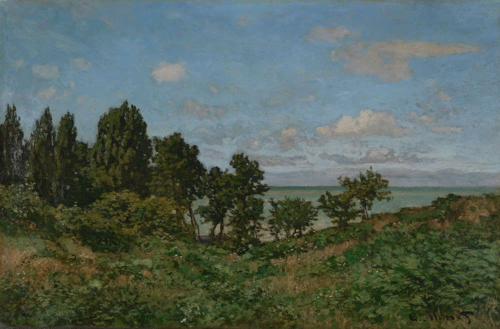 Claude Monet, Küstenlandschaft, 1864 (Van Gogh Museum, Amsterdam; acquired with the support of the Vincent van Gogh Foundation and Rembrandt Association)