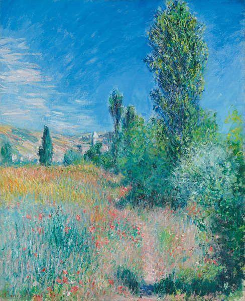 Claude Monet, Landschaft auf der Insel Saint-Martin bei Vétheuil, 1881, Öl/Lw (Privatsammlung)