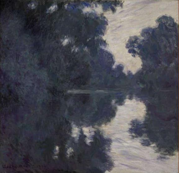 Claude Monet, Matinee sur la Seine, 1896, Öl/Lw, 89.2 x 92.4 cm (Privatsammlung)