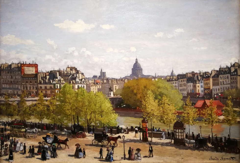 Claude Monet, Quai du Louvre, 1867, Öl/Lw, 65 x 92 cm) Gemeentemuseum Den Haag), Foto: Alexandra Matzner, ARTinWORDS