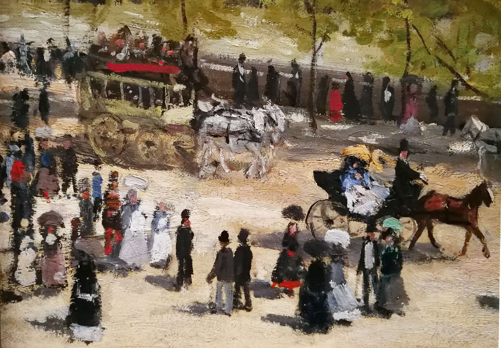 Claude Monet, Quai du Louvre, Detail, 1867, Öl/Lw, 65 x 92 cm) Gemeentemuseum Den Haag), Foto: Alexandra Matzner, ARTinWORDS