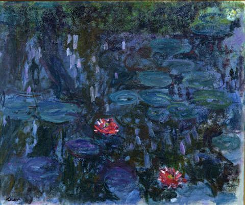 Claude Monet, Seerosen und Spiegelungen einer Weide, 1916–1919 (© Musée Marmottan Monet, Paris - The Bridgeman Art Library)