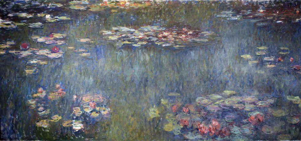 Claude Monet, Seerosenteich mit grüner Spiegelung, 1920/26, Öl/Lw, 200 x 425 cm (© Sammlung Emil Bührle, Zürich, Foto: SIK-ISEA, Zürich (J.-P. Kuhn)