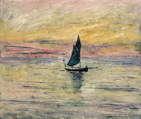 Claude Monet, Segelboot im Abendlicht, 1885, Öl/Lw, 54 x 65 cm (Musée Marmottan Monet, Paris © Musée Marmottan Monet, Paris)