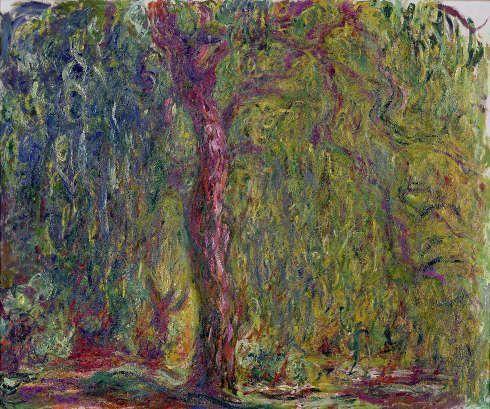 Claude Monet, Trauerweide, 1918–1919, Öl/Lw, 100 x 120 cm (Musée Marmottan Monet, Paris © Musée Marmottan Monet, Paris)