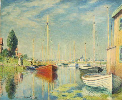 Claude Monet, Vergnügungsboote in Argenteuil, 1875 (Staatsgalerie Stuttgart, Leihgabe aus Privatbesitz)