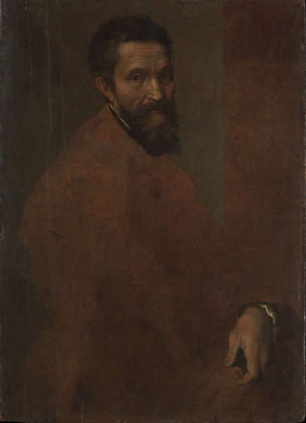 Daniele da Volterra, Michelangelo Buonarroti (1475–1564), um 1544, Öl/Holz, 88.3 x 64.1 cm (Metropolitan Museum of Art, New York, Gift of Clarence Dillon, 1977 1977.384.1)