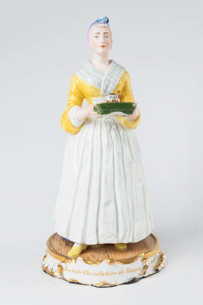 La belle Chocolatière de Vienne [Das Wiener Schokoladenmädchen], 1854, Kaiserliche Porzellanmanufaktur Wien, Modelleur Wenzel Stummer, © MAK/Tamara Pichler
