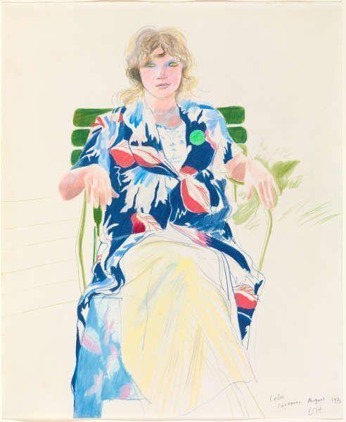 "David Hockney, Celia, Carennac, August 1971, Farbstift/Papier, 17 x 14"" © David Hockney Photo Credit: Richard Schmidt Collection The David Hockney Foundation"